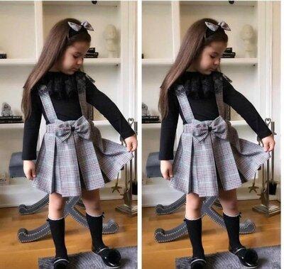 Костюм на девочку блуза, юбка и повязка
