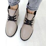 Новинка Классические натуральные кожаные женские деми дезерты ботинки 36,37,38,39,40,41