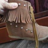 Ботинки сникерсы размер 31-32 демисезонные полусапожки