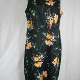 Натуральное новое стрейчевое платье большого размера цветочный принт 18p