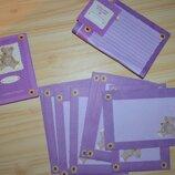 Набор для деток, блокнот, конвертики и бумага