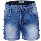Низкая цена- супер качество Стильные джинсовые шорты для девочки Венгрия