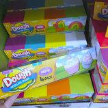 Набор тесто пластилин Dough Pastel   4 баночки