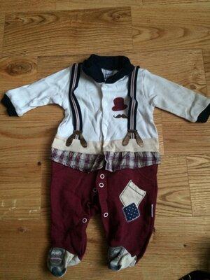 Стильный деловой костюм боди для новорожденных bebesix рр 62