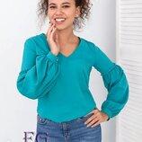 Блуза с объемным рукавом Adel 42 44 46 48