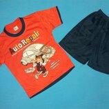 Костюм футболка и шорты для мальчика на рост 80-86 см.