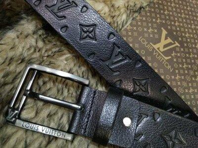 Ремень кожаный мужской в стиле Louis Vuitton, Луи Виттон