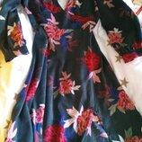 Платье в цветы манго шелковое