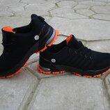подростковые кроссовки черные с оранжевым 36-41р
