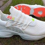 Кроссовки унисекс женские или подростковые BAAS 1551 весна осень демисезон р. 36-41 белые серые