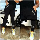 Модные спортивные женские штаны с карманами норма арт 920