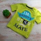 Яркая футболочка футболка на 12-18мес Mothercare