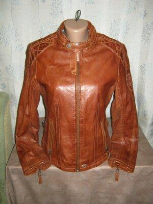 SOCCX р.42 Натуральная кожа Куртка курточка кожаная пиджак ветровка женская