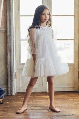 Нарядное фатиновое платье на девочку пышное платье