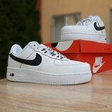 Кроссовки Nike Air Force 1 белые с черным