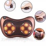 Массажная подушка для спины и шеи на 8 роликов Massage pillow GHM 8018 роликовый массажер