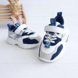 Детские стильные кроссовки на липучке нубук