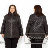 Куртка демисезонная с подкладом на синтепоне 100, застежкой на молнии и высоким воротом Z0404
