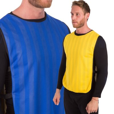 Манишка для футбола двусторонняя мужская с резинкой 0792 размер 68х43см
