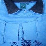 Флисовая голубая толстовка без капюшона, Фирма Dash даш Унисекс