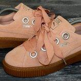 Puma platform оригинальные, стильные,кожаные невероятно крутые кроссовки