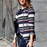 Жаккардовый жакет пиджак косуха Зара Zara