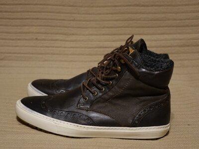 Легкие темно-коричневые комбинированные брогированные ботинки Asos 9 р