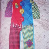 Карнавальный новогодний костюм клоуна, шута на 11-12лет George