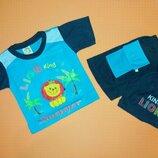 Костюм для мальчика футболка и шорты на рост 80,86,92 см.