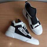 Крутые кожаные кроссовки хайтопы 44 р. 28,6 см. Cristian ZeroTre CR 03 оригинал