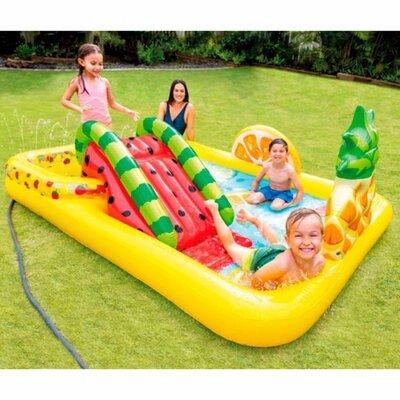 Детский надувной игровой центр Intex 57158 Тропики Фруктовая вечеринка, 244x191x91 см
