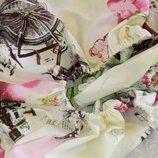 Двуспальная простынь на резинке - велосипеды и розы, все размеры, быстрая отправка