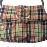 Новая стильная сумка в клетку Per Una на магнитной кнопке.