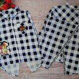 Детская модная рубашка в клеточку