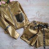 Шикарный костюм кофта и шорты для девочки