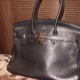 Сумка Hermes birkin оригинал кожа Louis Vuitton Gucci Burberry