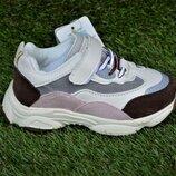 Стильные детские кроссовки Nike найк сетка коричневые р27-31