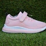 Детские кроссовки сетка аналог Nike найк персиковые р32-37