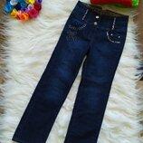 Стильные джинсы на девочку 7-8 лет, р.122-128см