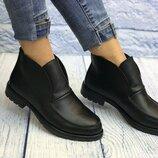 36-40, Кожаные ботинки деми. Женские ботинки. кожа. натуральные кожаные женские лоферы.