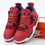 Мужские кроссовки Nike Air Jordan 4 Retro. Red. Найк Джордан.