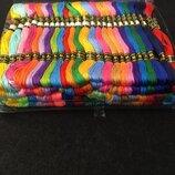 100шт 12 сложений по 8м Набор мулине нитки для вышивания