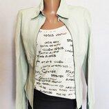 Куртка женская кожаная жакет мята Autograph by Marks & Spencer размер 42, Хs, UK8
