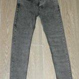 Мужские стрейчевые молодежные джинсы скини 1010 Denim р30-38, серые,маломерят