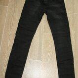 Мужские стрейчевые молодежные джинсы скини 1713 Mario р29-36, черные, школа