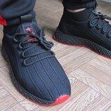 Мужские текстильные кроссовки черные
