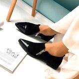 Женские туфли с лаковым носком
