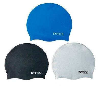Intex Шапочка 55991 для плавания, силикон, 8 лет, 3 цвета, 20см