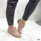 Женские замшевые ботинки лоферы Loro Piana