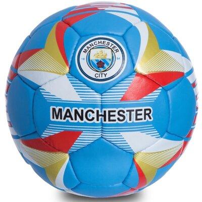 Мяч футбольный 5 гриппи Manchester City 0684 PVC, сшит вручную